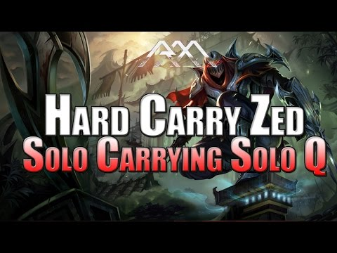 Hard Carry Zed Solo Carrying Solo Queue League of Legends