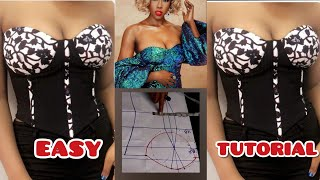 HOW TO MAKE A CORSET TOP | TUBE TOP | BLOUSE | STRAPLESS TOP | BUSTIER TUTORIAL | DIY