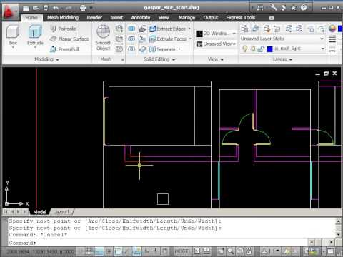 Autocad 2d Drawing Course B Site Plan Part 1 Roof