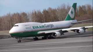 Eva Air Cargo Boeing 747-400F [B-16463] takes off from Anchorage