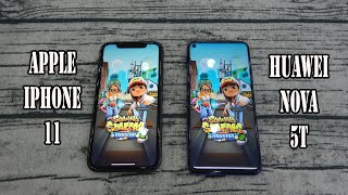Apple iPhone 11 vs Huawei nova 5T | SpeedTest and Camera comparison