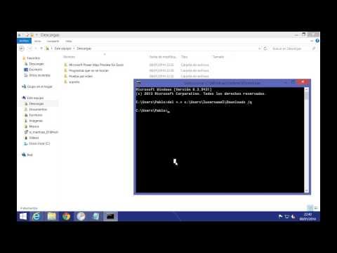Windows 8 / 8.1 - Tarea programada para limpiar la carpeta de descargas
