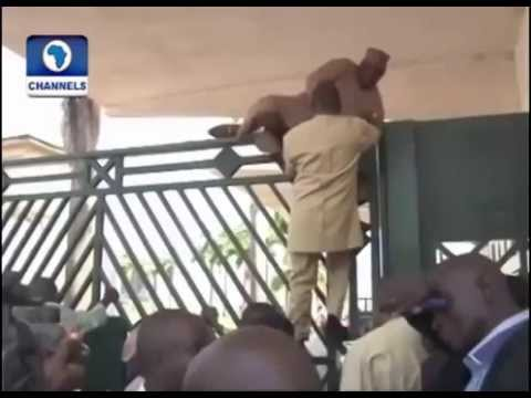 Nigerian National Lawmakers Jumping Fence video