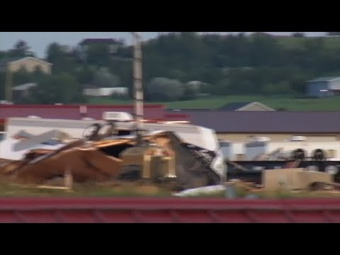 Raw: Deadly Tornado Strikes North Dakota Town