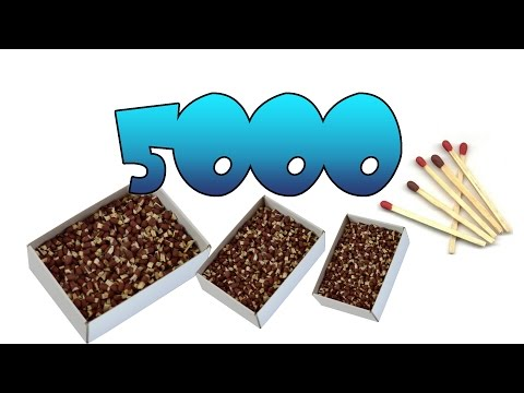 Super explosión con 5000 fósforos