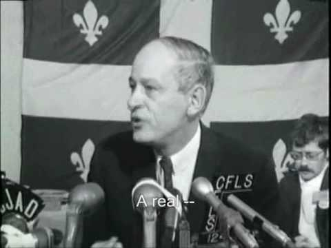 Ren Lvesque 1968 Press Conference