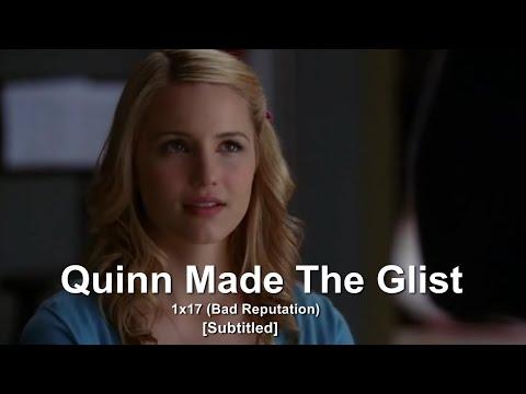 GLEE- Quinn Made The Glist | Bad Reputation [Subtitled] HD