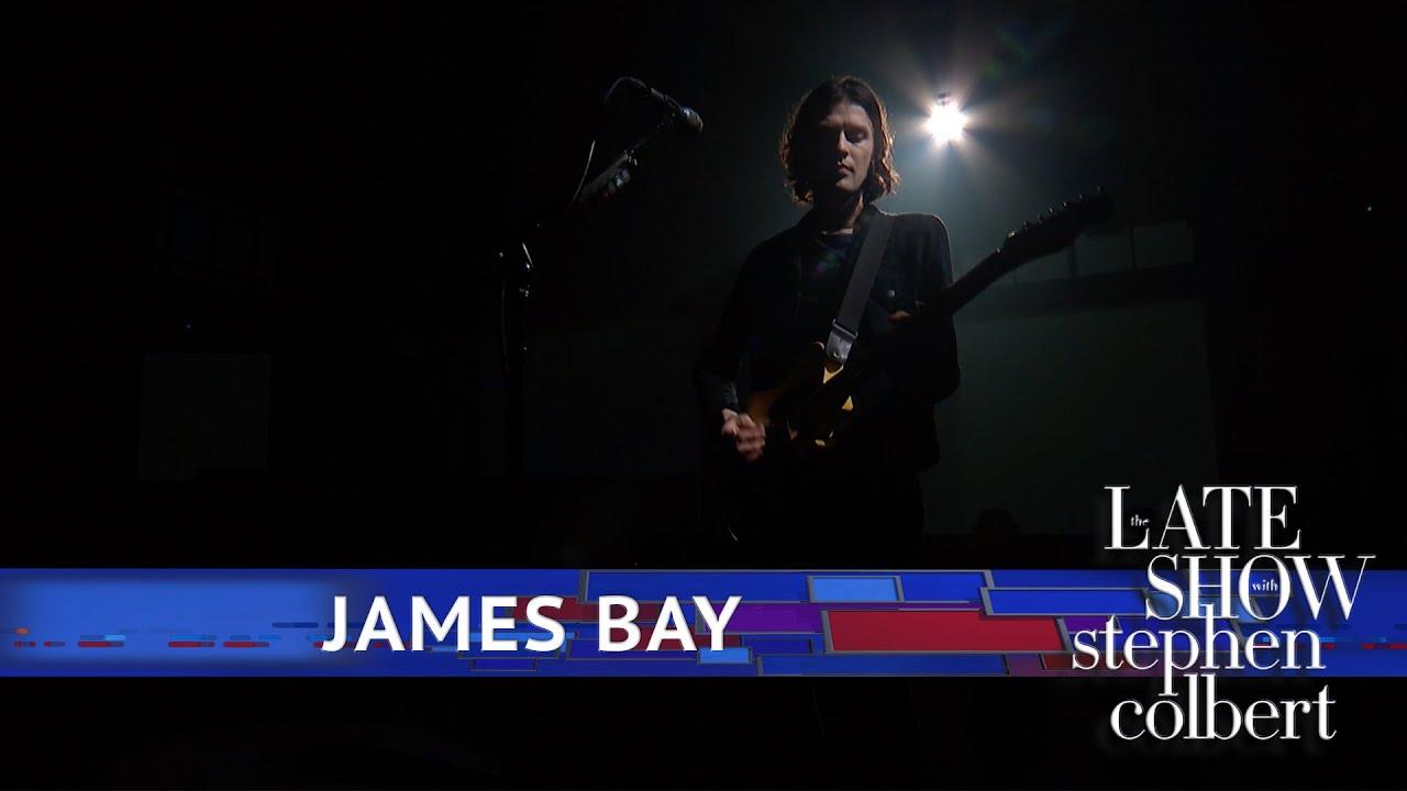 "James Bay - 米CBS「The Late Show with Stephen Colbert」にて""Bad""を披露 スタジオライブ映像を公開 thm Music info Clip"