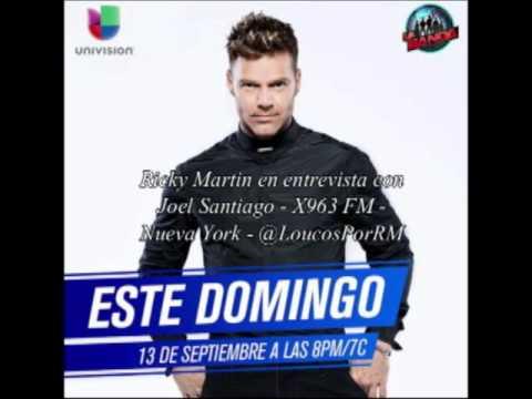 (FULL) Ricky Martin   Entrevista con Joel Santiago   Radio X 963 FM Nueva York (10.09.2015)