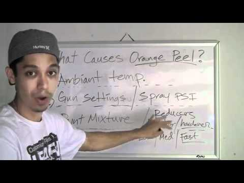causes orange peel how to fix or prevent orange peel paint youtube. Black Bedroom Furniture Sets. Home Design Ideas