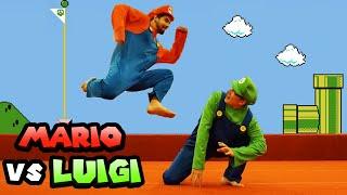 Super Mario Bros In Real Life: Mario VS Luigi Parkour Race