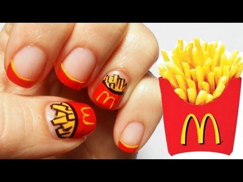 McDonald's Chips Nail Art Tutorial