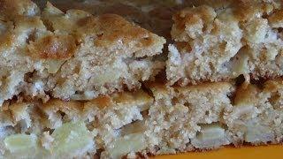Шарлотка на кефире с яблоками без яиц. Вегетарианская, диетическая, пышная.