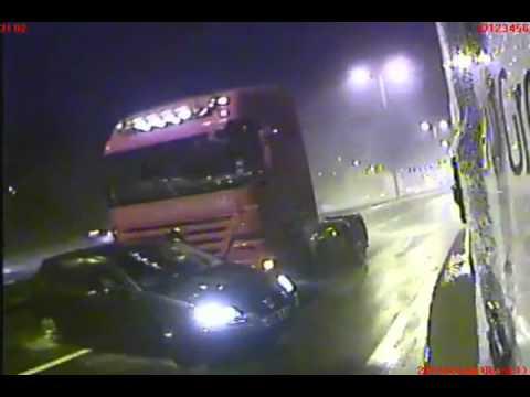 ДТП с грузовиком на автостраде