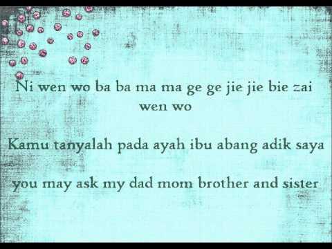 Joyce Chu-malaysian Chabor Lyrics video