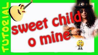 Como tocar Sweet Child o mine en guitarra acustica TUTORIAL