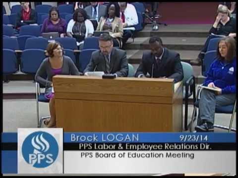 Board of Education - Regular Meeting - September 23, 2014