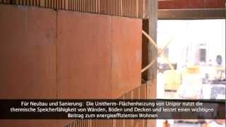 Unitherm-Flächenheizung von Unipor