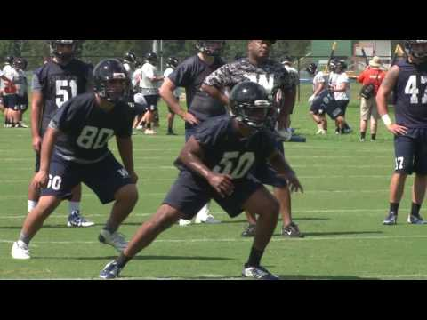 2016 Wingate Football - Sights and sounds from the first practice of fall preseason camp