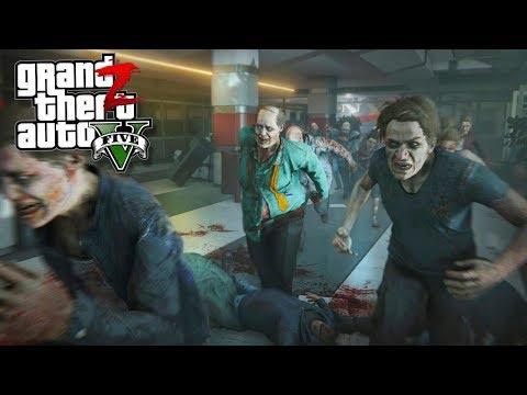 GTA 5 Зомби Апокалипсис - ТОЛПА ЗОМБИ УНИЧТОЖАЛИ БАЗУ ВЫЖИВШИХ В ГТА 5 МОДЫ 23! GTA 5 ОБЗОР МОДОВ