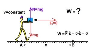 Physics - Mechanics: Work, Energy, and Power (10 of 20) Work Done by Carrying a Box