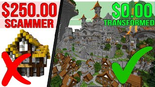Subscriber Got SCAMMED $250 So I Transformed His Minecraft World!