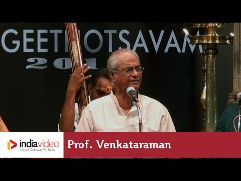 Carnatic vocal by Prof. Venkataraman at Swathi Music Festival, 2013