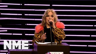 Brix Smith Start pays tribute to Mark E Smith at VO5 NME Awards 2018