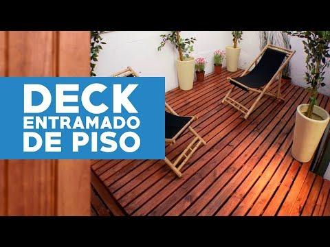 C mo construir un deck o entramado de piso youtube - Como cerrar un terreno con madera ...