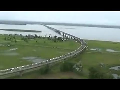 This is how India's longest 'Dhola-Sadia' bridge looks like from the top thumbnail