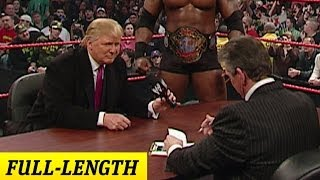 Mr. McMahon and Donald Trump's Battle of the Billionaires Contract Signing