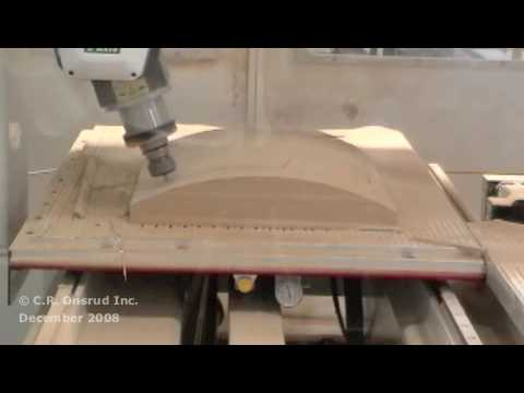 5 Axis Fixture & Chair Back Routed on a C.R. Onsrud CNC Router