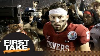 Stephen A. and Max debate Baker Mayfield's NFL draft value | First Take | ESPN