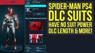 Spider Man PS4 DLC Suits Have No Suit Power, LENGTH, Release Time & More (Spiderman PS4 DLC Suits)