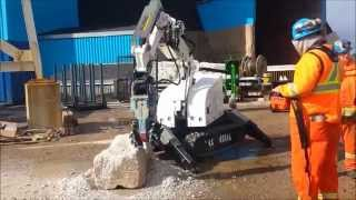 Video Demolition Robot RDC 2222 commissioning Canada mine 2015