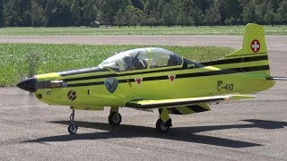 PILATUS PC-9 AND PC-7 MKII OLD SWISS AIR FORCE RC SCALE MODEL TURBOPROP AIRCRAFT
