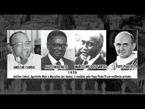 1970 Pope Paul VI grants an audience  to Amilcar Cabral, Agostinho Neto and Marcelino dos Santos
