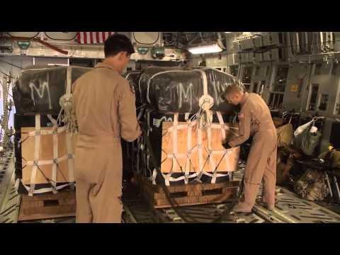 WAR IN AFGHANISTAN!  Airdrop from C-17A Globemaster III - Troop Resupply!