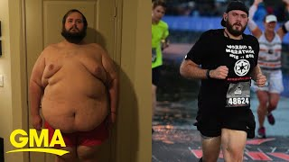 Man loses over 250 pounds and completes marathon  | GMA Digital