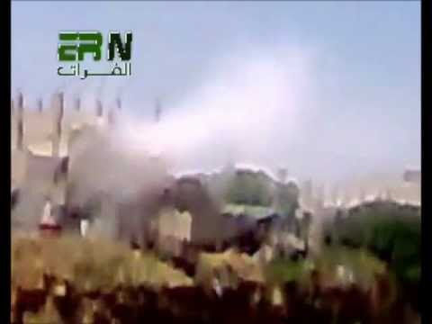 Leaked video shows Al-Assad's soldiers shelling residential houses in Homs.