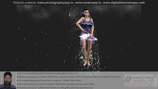 Part 9: Hot & beautiful International 3D Model Nancy giving different poses in rain.