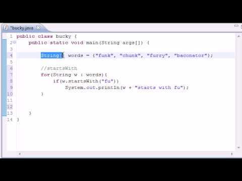 Intermediate Java Tutorial - 1 - Common String Methods