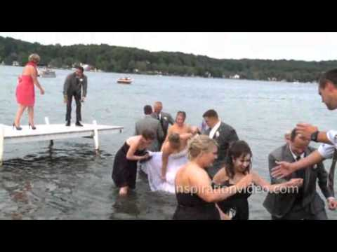 Dock Gives Way, Sending Bridal Party Into Lake