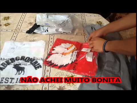 Unboxing Aliexpress camisas Abercrombie  2014