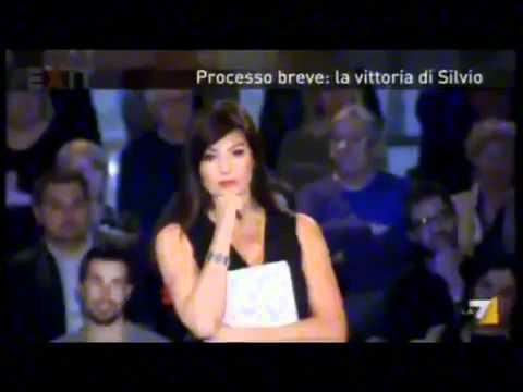 Marco Travaglio, Berlusconi, Ruby, Santanchè, Exit, La7, Ilaria D'Amico, Trombettieri, Feltri