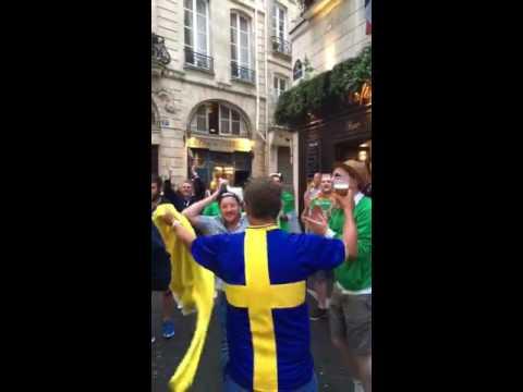 Ireland fans' Henrik Larsson tribute