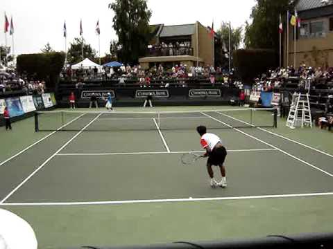 Somdev DevVarman Vs Donald Young At Aptos Challenger