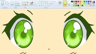 ? Real Time ? How I Draw Anime Eyes using Mouse on MS Paint