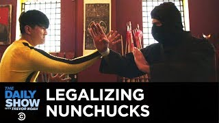 Thank Me Later - Jim Maloney's Crusade to Legalize Nunchucks in New York City | The Daily Show
