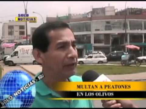 MULTAS A PEATONES